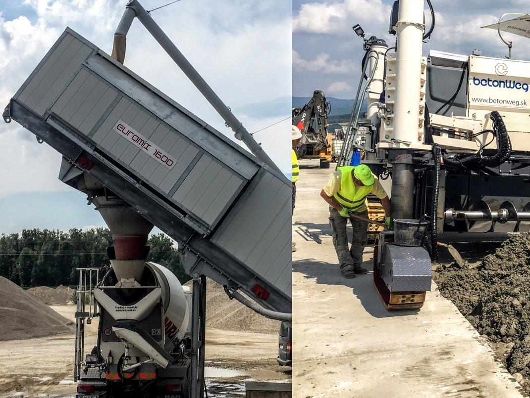 Euromix® 1600 a betonové cesty