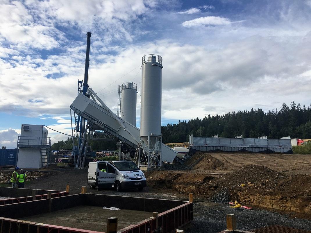 Nová betonárna SBM na dálnici D1