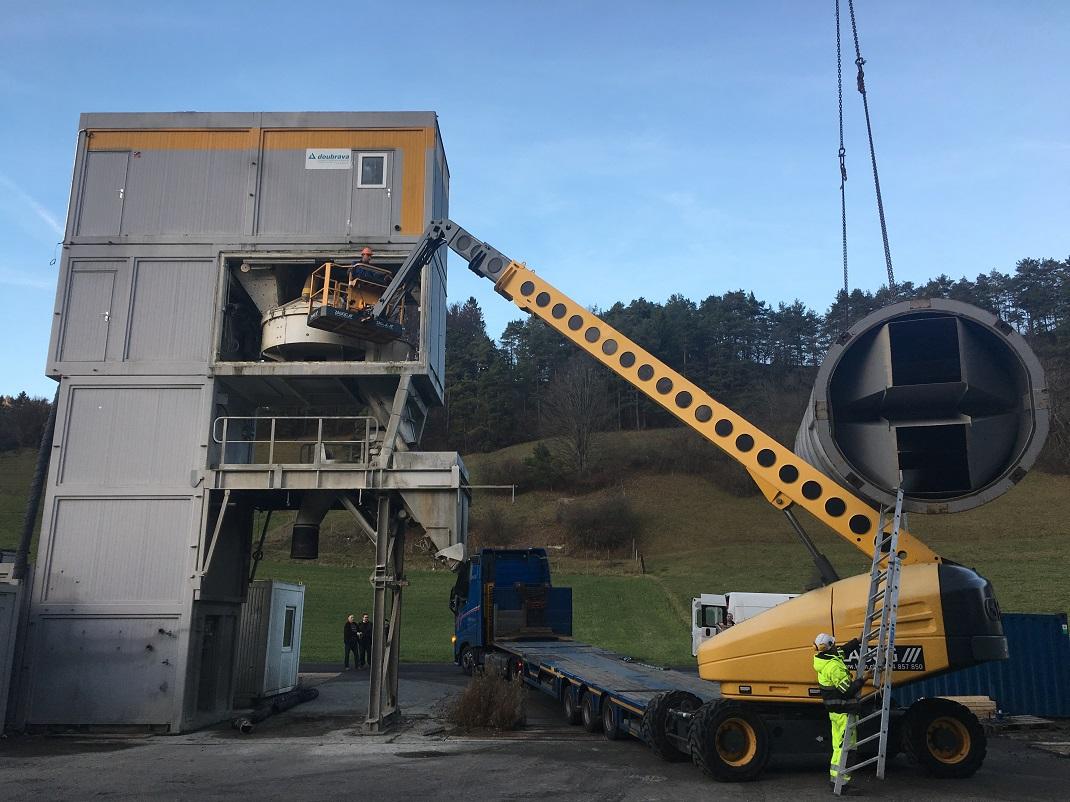 Demontáž použíté betonárny SBM (Doubrava) Variomix